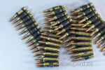 Bullet belt (standard rounds) fullbrass with copper tip