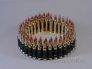 Bullet belt (standard rounds) fullbrass PREMIUM quality high polished