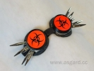 Cybergoggle biohazard neon-orange